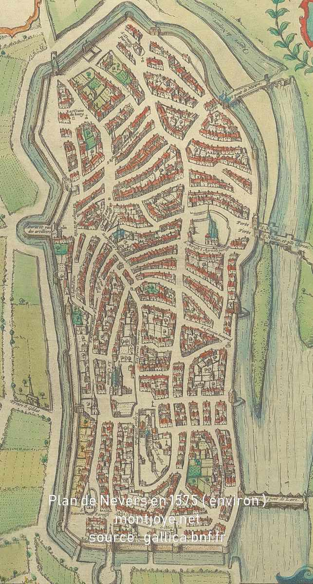 Plan de Nevers en 1575
