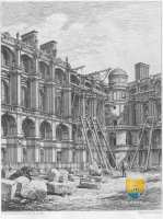 gravure-restauration-chateau-eugene-millet-saint-germain