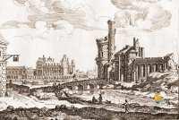 1666-Tour-de-Nesle-Louvre-Paris-France-Gravure