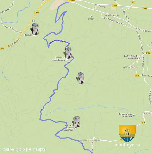 Très Route des 5 Châteaux   Haut-Rhin - 68 GV05