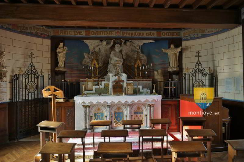Chapelle de Jeanne d'Arc à Beaulieu les Fontaines, construite en son honneur