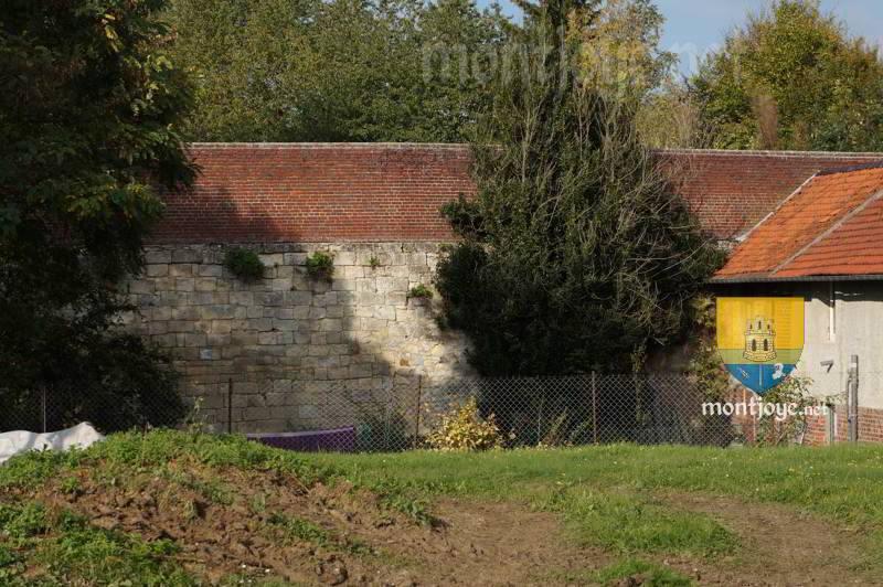 Forteresse de Beaulieu les fontaines, beau reste de l'enceinte et de son fossé